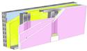 Doublage Placostil® sur montants - support parpaing creux 20 cm - 3x Placoflam® BA13 - 2,6m