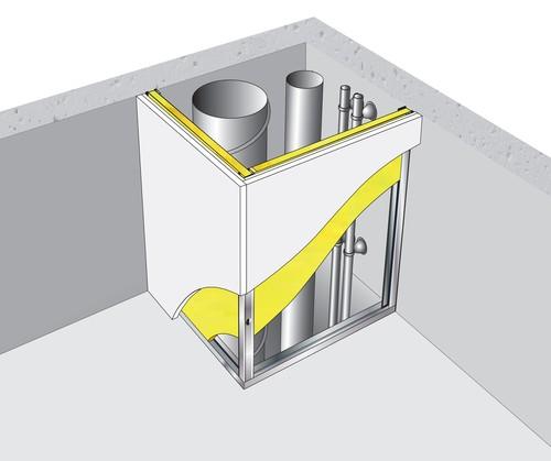 Gaine technique verticale Placostil® - 2x BA18S - 2,70m - EI120 coupe feu de traversée