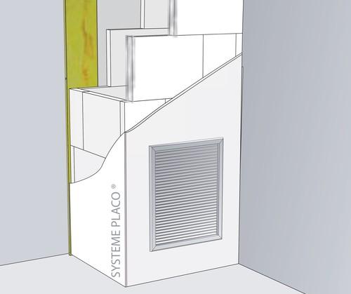 Conduits verticaux de ventilation Caroplatre® et Glasroc® F13 - EI120