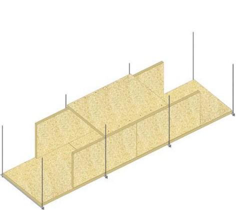 Conduits de désenfumage horizontaux en panneaux Glasroc® FV500 - EI120 - joints décalés