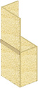 Conduits de désenfumage verticaux en panneaux Glasroc® FV500 - EI120 - joints alignés