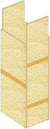 Conduits de ventilation verticaux en panneaux Glasroc® FV500 - EI120 - joints décalés