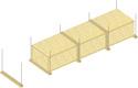 Conduits de désenfumage horizontaux en panneaux Glasroc® FV500 - EI60 - joints alignés