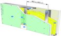 Cloison Placostil® 100/62 Placo® Duo'Tech® 19 Marine - EI60 - 52dB - 5,2m
