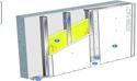 Doublage Placostil® sur montants - support béton 16cm - 1 x Placoplatre® BA13 Activ'Air® - 2,5m