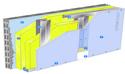 Doublage Placostil® sur montants - support parpaing creux 20 cm - 1x Placo® Duo'Tech® 25 - 2,55m