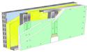 Doublage Placostil® sur montants - support parpaing creux 20 cm - 3x Placomarine® BA 13 - 2,75m
