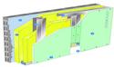 Doublage Placostil® sur montants - support parpaing creux 20 cm - 1x Placoplatre® BA18S Marine - 2,45m
