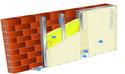 Doublage Placostil® sur montants - support brique isolante 20cm - 1x Placoplatre® BA13 - 2,2m