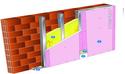 Doublage Placostil® sur montants - support brique isolante 20cm - 1x Placoflam® BA13 - 2,5m