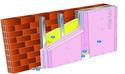 Doublage Placostil® sur montants - support brique isolante 20cm - 3 x Placoflam® BA13 - 4,85m