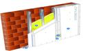 Doublage Placostil® sur montants - support brique isolante 20cm - 2 x Placoplatre® BA13 Activ'Air® - 2,45m