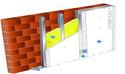 Doublage Placostil® sur montants - support brique isolante 20cm - 1x Placo® Duo'Tech® 25 Activ'Air® - 2,55m