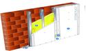 Doublage Placostil® sur montants - support brique isolante 20cm - 1x Placoplatre® BA18S THD Activ'Air® - 2,05m