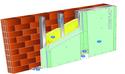 Doublage Placostil® sur montants - support brique isolante 20cm - 2 x Placomarine® BA 13 - 2,45m
