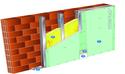 Doublage Placostil® sur montants - support brique isolante 20cm - 1x Placo® Duo'Tech® 25 Marine - 2,55m