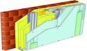 Doublage pour locaux humides - support brique isolante 20cm - 1x Glasroc® H Océan 13 - 3,2m
