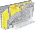 Doublage pour locaux très humides - support parpaing creux 20 cm - 2x Aquaroc® 13 - 2,5m