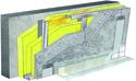 Doublage pour locaux très humides - support béton 16cm - 2x Aquaroc® 13 - 2,5m