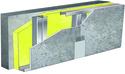Doublage pour locaux très humides - support béton 16cm - 1x Aquaroc® 13 - 3,3m