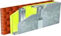 Doublage pour locaux très humides - support brique isolante 20cm - 1x Aquaroc® 13 - 2,6m