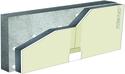 Complexes de doublage thermique Placomur® - support béton 16cm - Placoplatre® BA13 - Up = 0,25 W/m².K - épaisseur 133 mm