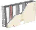Doublage thermique Placomur® DuoPass - support parpaing creux 20 cm - Placoplatre® BA13 - Up = 0,23 W/m².K - épaisseur 150 mm