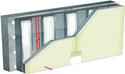 Doublage thermique Placomur® DuoPass - support béton 16cm - Placoplatre® BA13 - Up = 0,24 W/m².K - épaisseur 150 mm