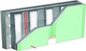 Doublage thermique Placomur® DuoPass - support béton 16cm - Placomarine® BA13 - Up = 0,28 W/m².K - épaisseur 130 mm