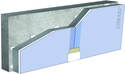 Complexes de doublage thermo-acoustique Doublissimo® - support béton 16cm - Up = 0,2 W/m².K - épaisseur 153 mm