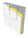 Doublage Placostil® M150 GH - 168/150 - Placoplatre® BA18S - EI30 - 6,15m - sur parpaing 20 cm