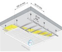 Plafond décoratif et acoustique Rigitone™ Activ'Air® 15/30 - αw = 0,5 - Plenum 200