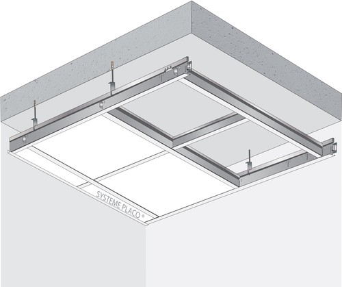 Plafond démontable Gyprex® Alba - bords A - Plenum 300