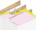 Plafond Placostil® sur fourrures PRF Stil® F 530 - Charpente bois ou métallique - Placoflam® BA15- 1,2 m - R30