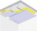 Plafond Placostil® sur fourrures Stil® F 530 - Plancher béton / poutrelles hourdis béton / Planchers mixtes non collaborants - Placophonique® BA13 - 1,2 m - REI30