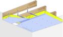 Plafond Placostil® sur fourrures Stil® F 530 - Charpente bois ou métallique - Placophonique® BA13 - 1,2 m - R15