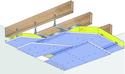 Plafond Placostil® sur fourrures Stil® F 530 - Charpente bois ou métallique - 2x Placophonique® BA13 - 1,2 m - R30