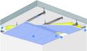 Plafond Placostil® sur montants - Plancher béton / poutrelles hourdis béton / Planchers mixtes non collaborants - Placophonique® BA13 - 2,7 m - REI30