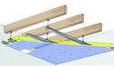 Plafond Placostil® sur montants - Charpente bois ou métallique - Placophonique® BA13 - 3,2 m