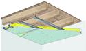 Plafond pour locaux très humides Glasroc® H Ocean 13 - Plancher bois - 2,05 m - REI60