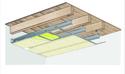 Plafond longue portée Stil Prim® Tech - Plancher bois - Placoplatre® BA13 - 3,6 m - REI15
