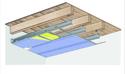 Plafond longue portée Stil Prim® Tech - Plancher bois - Placophonique® BA13 - 4,15 m - REI15