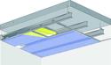Plafond longue portée Stil Prim® Tech - Plancher béton / poutrelles hourdis béton / Planchers mixtes non collaborants - Placophonique® BA13 - 4,15 m - REI30