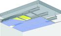 Plafond longue portée Stil Prim® Tech - Plancher béton / poutrelles hourdis béton / Planchers mixtes non collaborants - 2x Placophonique® BA13 - 3,6 m - REI60