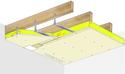 Plafond longue portée Stil Prim® Tech - Charpente bois ou métallique - Placoplatre® BA18 - 3,85 m - REI30