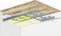 Plafond longue portée Stil Prim® Tech - Plancher bois - 2x Placoplatre® BA13 - 3,3 m - REI30