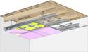 Plafond longue portée Stil Prim® Tech - Plancher bois - 3x Placoflam® BA15 - 3,3 m - REI120