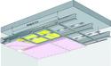 Plafond longue portée Stil Prim® Tech - Plancher béton / poutrelles hourdis béton / Planchers mixtes non collaborants - 2x Placoflam® BA15 - 3,3 m - REI120
