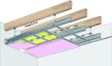 Plafond longue portée Stil Prim® Tech - Charpente bois ou métallique - Placoflam® BA15 - 3,3 m - R30
