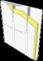 Cloison Placostil® M150 GH 186/150 - BA 18S - EI60 - 50 dB - 7,7m